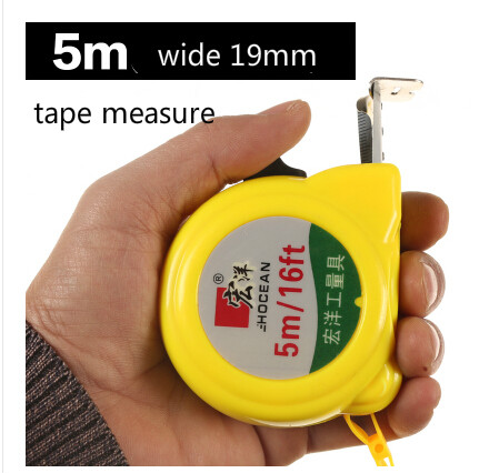 5mm Stainless steel Tape Measure specifications 5 Meters Width 19mm The metric system Woodworking Measuring tool
