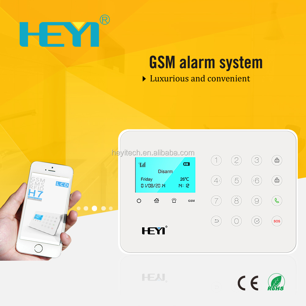 best wireless system kit security touch keypad burglar security gsm module gsm home alarm