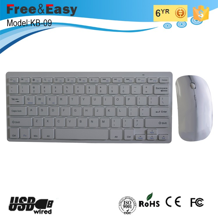 Hot sale 2.4g mini wireless bluetooth keyboard combo