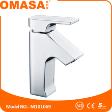 Innovative fashion style home bathroom Basin faucet Cold and hot water taps square single handle