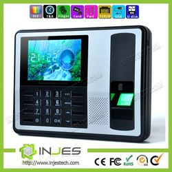 INJES TFT Color Display TCP IP USB Real Time finger print time clock and printer