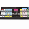 76-key programmable POS keyboard with magnetic card reader connect with POS terminal or PC