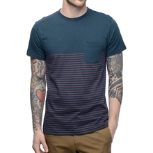 2017 Ribbed Collar Men Fashion T Shirt 100% Cotton Wholesale Striped T-Shirt