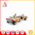Military theme jeep trailer toy building brick for kids