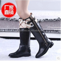 new Fashion B Brand Shoes Genuine leather pointed flats side zipper large size 34-42 women Motorcycle boots