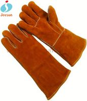 cow split leather welding gloves reinforced waterproof motorcycle gloves