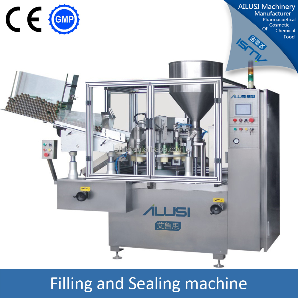 Skin gel tube filling and sealing machine