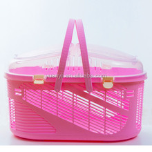 Hot sale plastic flight cage pet carrier dog crate