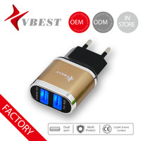 VBEST multi-port usb charger 5v 2a micro usb wall charger dual usb charger