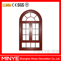 factory price of grill design arch aluminum casement window for garden