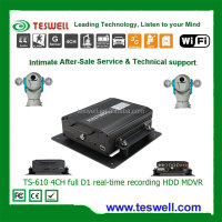 4 channel Vehicle GPS CCTV Surveillance MDVR with 3G WIFI Car Black Box Recorder