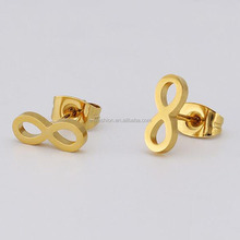 Fashion Gold Silver Black Fancy Stainless Steel Stud Earring