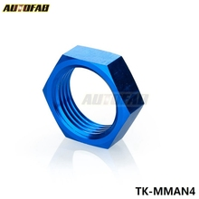 AUTOFAB - 4AN AN4 AN -4 HEX NUT Blue For Male Union Flare Bulkhead Fitting Adapter TK-MMAN4