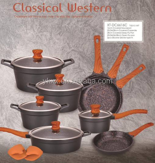 NEWS | 16pcs Classical starry sky aluminum ceramic cookware set