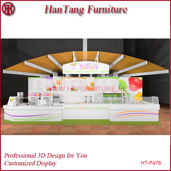 2014 Modern Style Customized Fresh Juice Bar Counter, Juice Bar Design for Retail