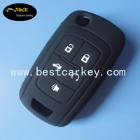 Cheap replacement car key cover for Buick silicone key case 5 button car key case