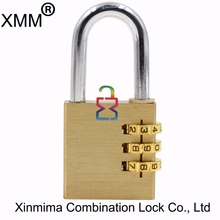 Good quality solid brass pad lock combination padlock 40mm