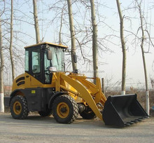 1ton front mini wheel loader four in one bucket,V snow blade