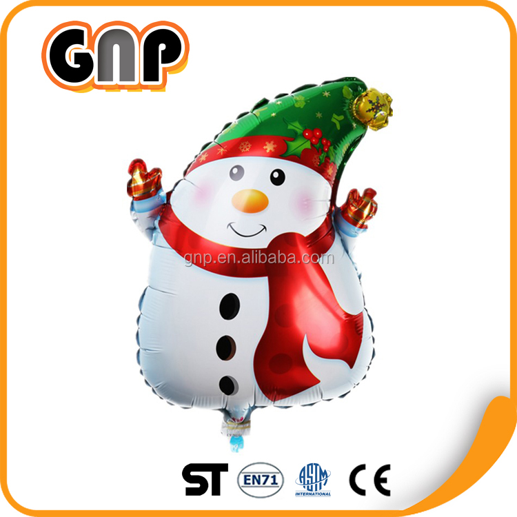 Snow Man Foil Balloons Decor Christmas Festival Helium Balloon