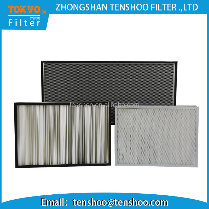Metal frame non woven synthetic cleaner media medium panel air filter