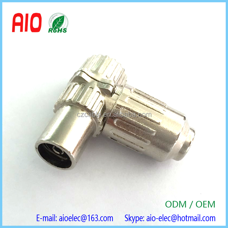 Cable Mount Right Angle IEC Aerial Female Jack Connector