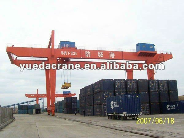 U Type 16Ton Double Beam Gantry Crane With Hook
