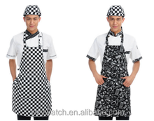 Polyester cotton half work apron manufacturer wholesale restaurant kitchen chef working apron