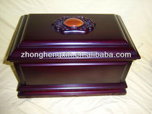 Chinese Wholesale Funeral Suppliers Purple Wooden Casket