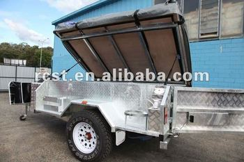 hot dipped galvanized folding camping trailer