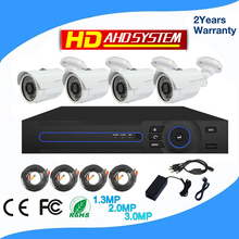 ShenZhen 1080p ahd cameras bullet waterproof ip66 with night vision 4ch dvr kit manufacture