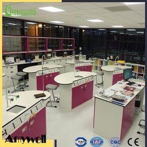 Amywell Customzied chemical resistant HPL laminate chemistry laboratory bench