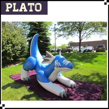 Top quality inflatable blue dragon, inflatable cartoon model for sale