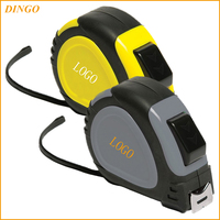China supplier yellow and black tape measures with customized logo