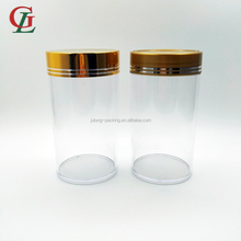 High quality 400CC clear PS capsule bottle fish oil bottle Daily Vitamin Container for medicine packaging