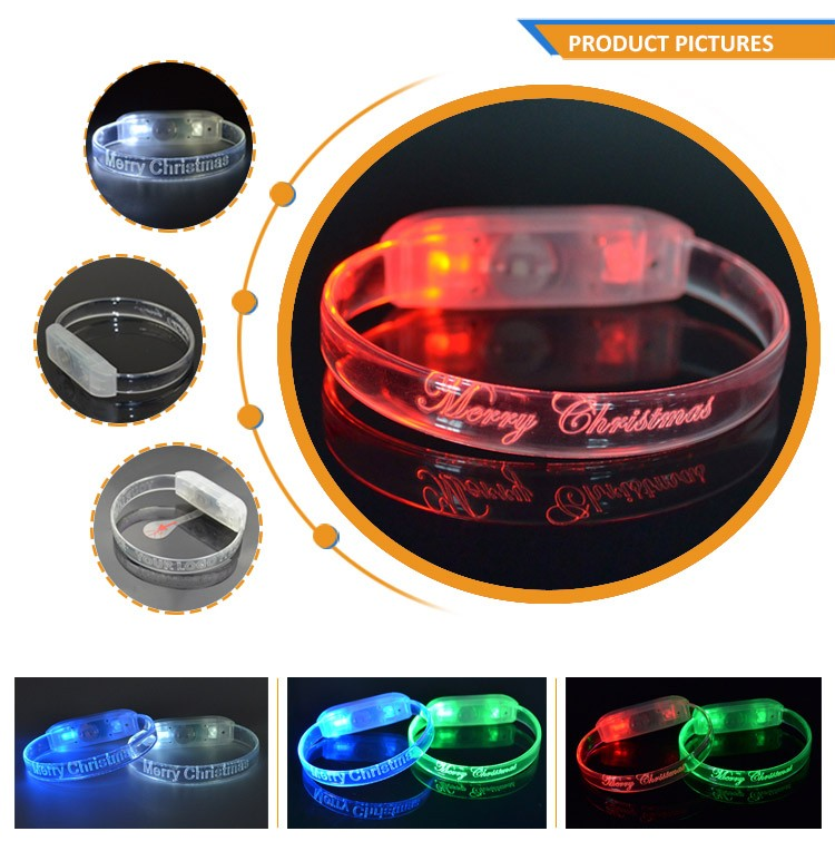 Factory Best Products TPU Multicolor Flashing Led Bracelet For Party Supplies TZ-W230