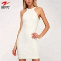 New fashion dress lace halter bodycon dress for women