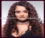 natural virgin hair curly texture front lace wig