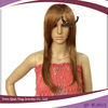long brown coloured wigs synthetic