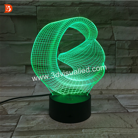 3D Led Logo Projector Laser Engraved Night Light Decorative For Home