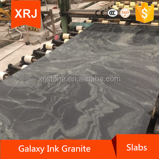 Galaxy Ink Grantie Slabs Desktop Leather
