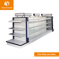 2018 high quality supermarket convenience store wire gondola shelving for sale
