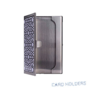 Customized modern high end souvenir metal stainless steel business card holder