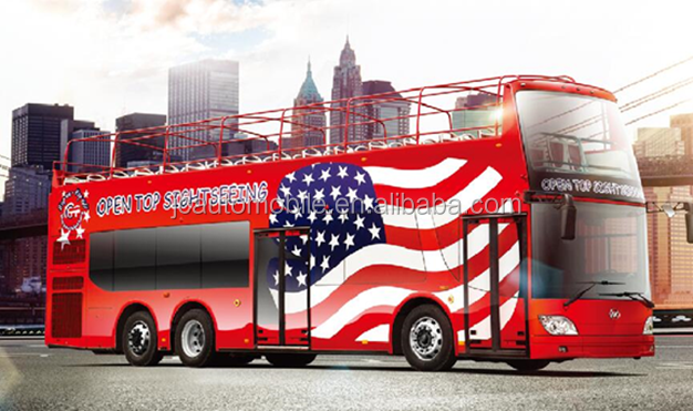 Big sale JAC open top luxury double-decker bus, tourism sightseeing bus for selling