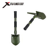 Xracing NM-101-1 Wholesale multi function military camping survival carbon steel folding shovel with pick