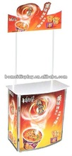 plastic portable merchandise table display plastic table with iron