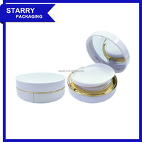 BC09 15g round empty plastic cosmetic air cushion case wet compact powder case