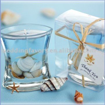 Sea Shell Gel Candle Favors