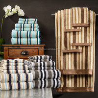 China suppliers 100% Cotton Stripe Stain Bath Towel for Asults