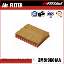 Automotive replacement performance air filter for perkins OEM NO.3M519601AA