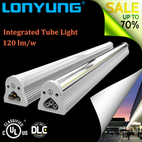 2016 New hot 120lm/w High Lumen 5 Years Warranty 4ft/5ft/6ft/8ft v shape t8 led tube Lamp 18w 4ft integrated led Cooler Light